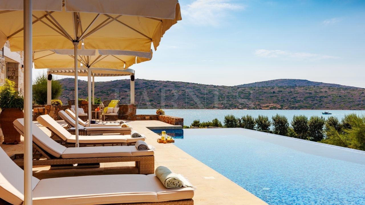 Villa Crete Lasithi view